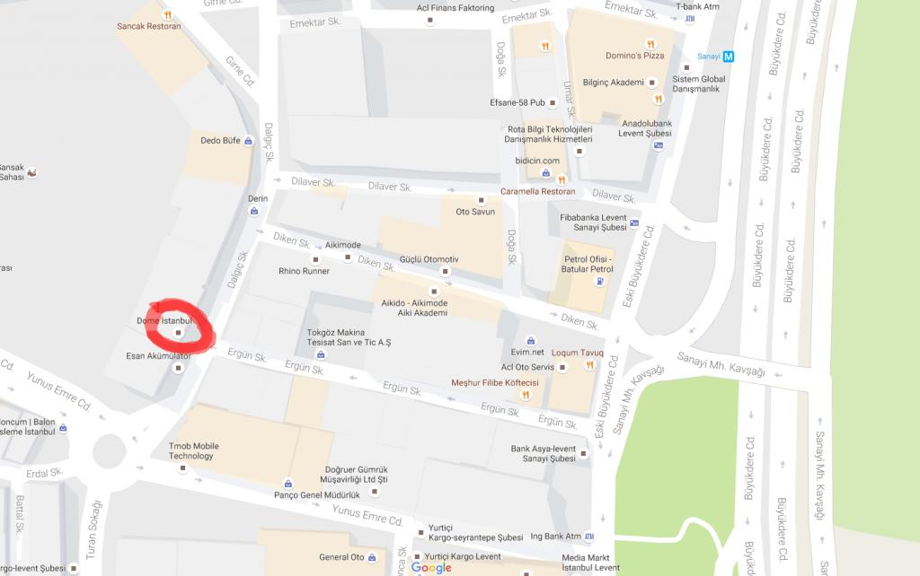 google-dome-adres-tarifi