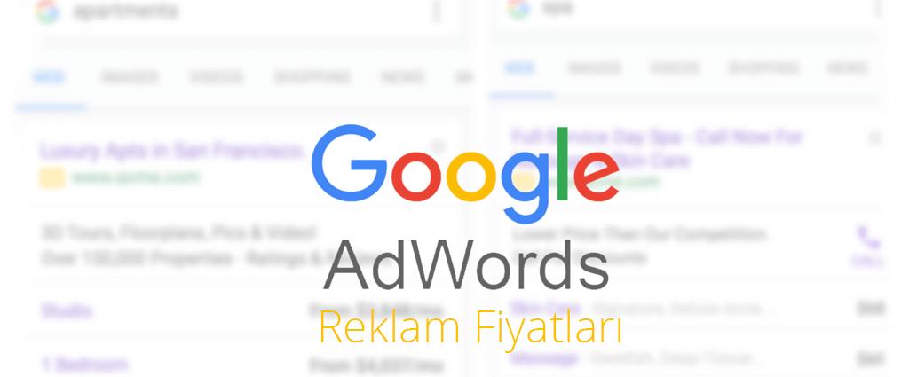 google adwords reklam fiyatları