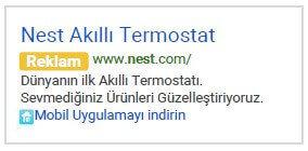 Google AdWords Reklam Uygulama Uzantısı